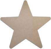 "Star 11.5""X11.5"" - MDF Plaque"