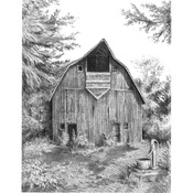 "Old Country Barn - Sketching Made Easy Kit 9""X12"""