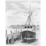 "Fishing Boat - Sketching Made Easy Kit 9""X12"""