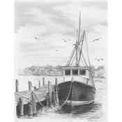 "Fishing Boat - Sketching Made Easy Kit 9""X12"""