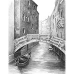 "Venice Bridge - Sketching Made Easy Kit 9""X12"""