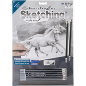 """Running Free - Sketching Made Easy Kit 9""""X12"""""""