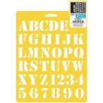 "Basic Alphabet 1"" - Stencil Mania Stencil 7""X10"""