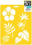 "Tropical Plants - Stencil Mania Stencil 7""X10"""