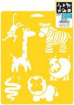 """Wild Animals - Stencil Mania Stencil 7""""X10"""""""