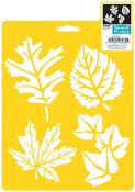 """More Leaves - Stencil Mania Stencil 7""""X10"""""""