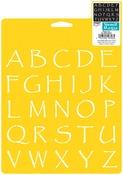 "Papyrus Alphabet 1.375"" - Stencil Mania Stencil 7""X10"""