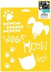 "Pets - Stencil Mania Stencil 7""X10"""
