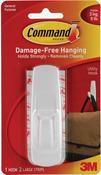 White 1 Hook & 2 Strips - Command Large Utility Hooks