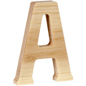 A - Wood Letter 5""