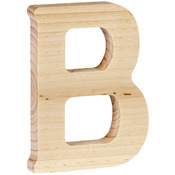"B - Wood Letter 5"""