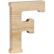 "F - Wood Letter 5"""