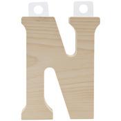 """N - Wood Letter 5"""""""