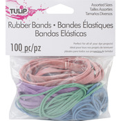 100/Pkg - Tulip Rubber Bands