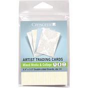 "Crescent Artist Trading Cards 2.5""X3.5"" 10/Pkg - Mixed Media & Collage - Vintage"