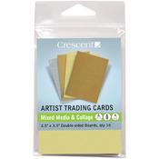 "Crescent Artist Trading Cards 2.5""X3.5"" 10/Pkg - Mixed Media & Collage - Metalli"