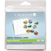 "Pop-Out Rinchies - Crescent Artist Trading Cards 4""X4"" 4/Pkg"