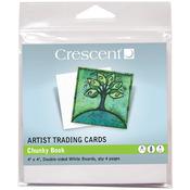 "Chunky Book - White - Crescent Artist Trading Cards 4""X4"" 4/Pkg"