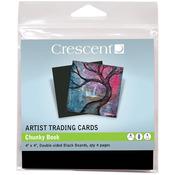 "Chunky Book - Black - Crescent Artist Trading Cards 4""X4"" 4/Pkg"