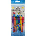 12/Pkg - Big Kid's Choice Arts & Crafts Brush Set