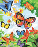 "Bright Butterflies - Color Pencil By Number Kit 8.75""X11.75"""