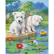 "Westie Pups - Color Pencil By Number Kit 8.75""X11.75"""