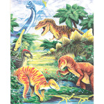 "Dinosaur Fun - Color Pencil By Number Kit 8.75""X11.75"""