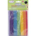 "Colored 6"" 50/Pkg - Jumbo Craft Sticks"
