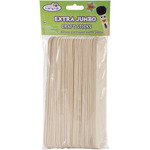 "Natural 7.875""X.8"" 25/Pkg - Extra Jumbo Craft Sticks"