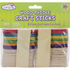 "Natural & Colored 3"" 80/Pkg - Craft Paddle Sticks"