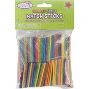 "Colored 2"" 750/Pkg - Craft Wood Dowels"