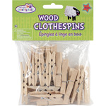 "Natural 1.875"" 24/Pkg - Wood Clothespins"