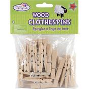 """Natural 1.875"""" 24/Pkg - Wood Clothespins"""