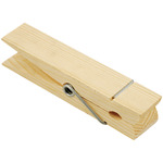 "Natural 5.875"" 1/Pkg - Wood Jumbo Clothespin"