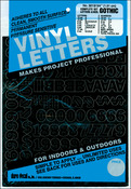 "Black - Permanent Adhesive Vinyl Letters & Numbers .75"" 302/Pkg"