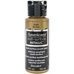 Gold - Americana Multi-Surface Metallic Acrylic Paint 2oz