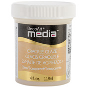 Clear - Media Crackle Glaze 4oz