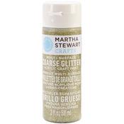 Florentine Gold - Martha Stewart Coarse Glitter Acrylic Craft Paint 2oz