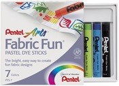 Assorted Colors - Fabric Fun Pastel Dye Sticks 7/Pkg