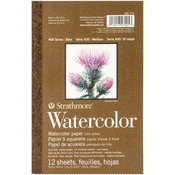 "12 Sheets - Strathmore Watercolor Paper Pad 5.5""X8.5"""