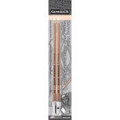 2B - Charcoal White Pencils 2/Pkg