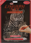 "Tiger & Cubs - Copper Foil Engraving Art Kit 8""X10"""