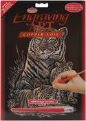 "Tiger & Cubs - Copper Foil Engraving Art Kit 8""X10"""