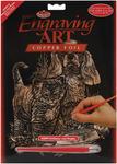 "Kitten & Puppy - Copper Foil Engraving Art Kit 8""X10"""