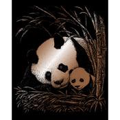 """Panda & Baby - Copper Foil Engraving Art Kit 8""""X10"""""""