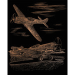 "WWII Fighter - Copper Foil Engraving Art Kit 8""X10"""