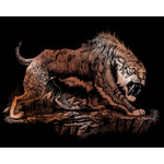 "Sabretooth - Copper Foil Engraving Art Kit 8""X10"""