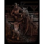 "Rodeo - Copper Foil Engraving Art Kit 8""X10"""