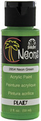 Green - FolkArt Neon Acrylic Paint 2oz