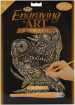 "Owls - Gold Foil Engraving Art Kit 8""X10"""